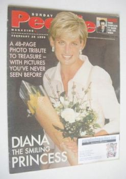 Sunday People magazine - 28 February 1999 - Princess Diana cover