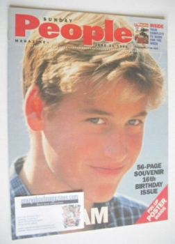 <!--1998-06-21-->Sunday People magazine - 21 June 1998 - Prince William cover