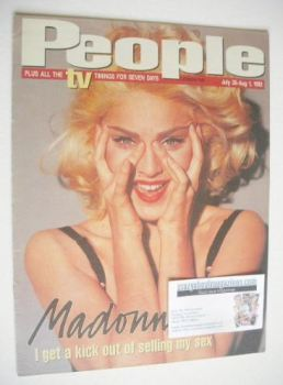 <!--1992-07-26-->People magazine - 26 July 1992 - Madonna cover