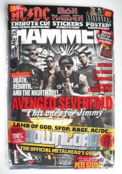 Metal Hammer magazine - Avenged Sevenfold cover (July 2010)