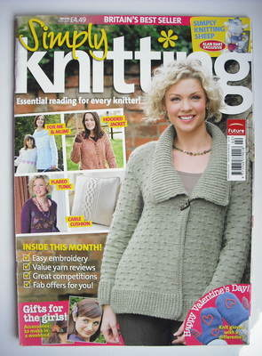 Simply Knitting magazine (Issue 50 - February 2009)