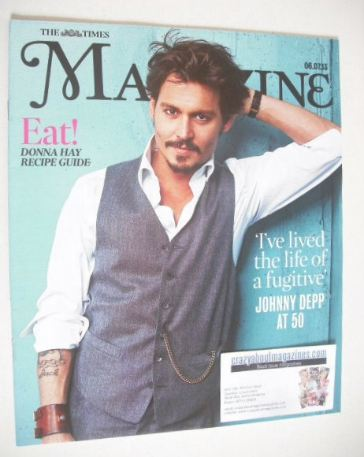 <!--2013-07-06-->The Times magazine - Johnny Depp cover (6 July 2013)