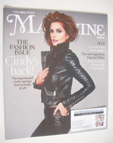 <!--2014-02-22-->The Times magazine - Cindy Crawford cover (22 February 201