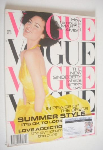 <!--1995-04-->British Vogue magazine - April 1995 - Shalom Harlow cover