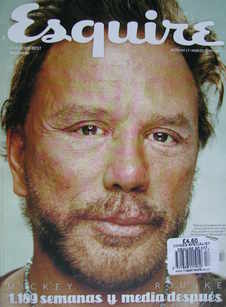 Esquire magazine - Mickey Rourke cover (March 2009 - Spanish Edition)