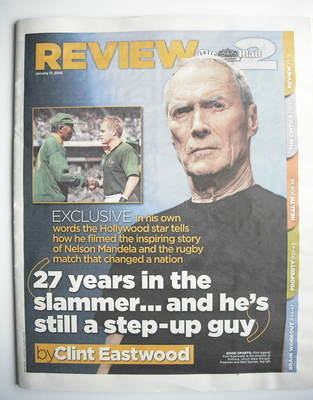 The Mail On Sunday Review newspaper supplement - Clint Eastwood cover (17 J