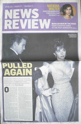 The Sunday Times News Review newspaper supplement - Warren Beatty and Natal