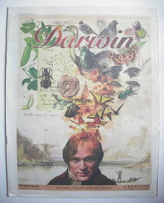 The Daily Telegraph newspaper supplement - Darwin cover (12 September 2009)