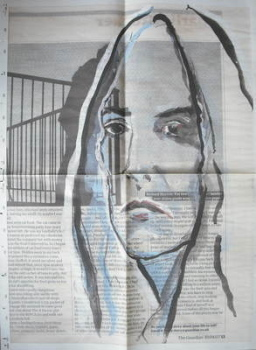 Patti Smith / Johnny Depp Xmas gift wrap / wrapping paper