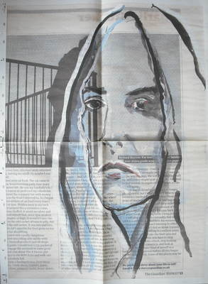 Patti Smith / Johnny Depp Xmas gift wrap / wrapping paper