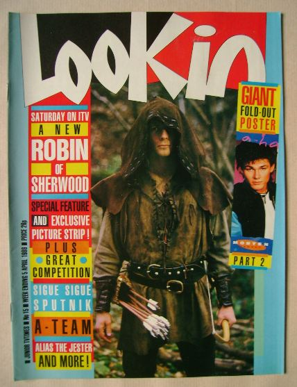 <!--1986-04-05-->Look In magazine - Jason Connery cover (5 April 1986)