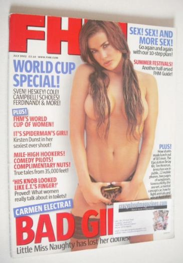 <!--2002-07-->FHM magazine - Carmen Electra cover (July 2002)