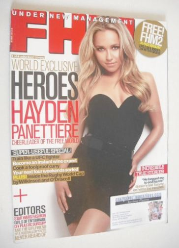 <!--2007-10-->FHM magazine - Hayden Panettiere cover (October 2007)