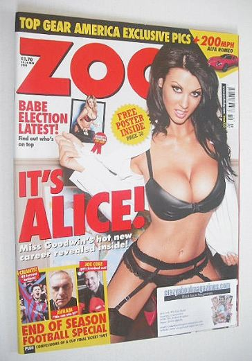 <!--2010-05-14-->Zoo magazine - Alice Goodwin cover (14-20 May 2010)
