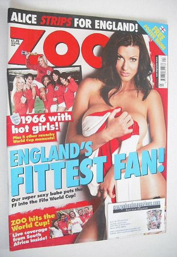 <!--2010-06-18-->Zoo magazine - Alice Goodwin cover (18-24 June 2010)