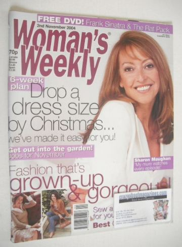 <!--2004-11-02-->Woman's Weekly magazine (2 November 2004 - Sharon Maughan