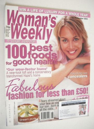 <!--2004-09-07-->Woman's Weekly magazine (7 September 2004)