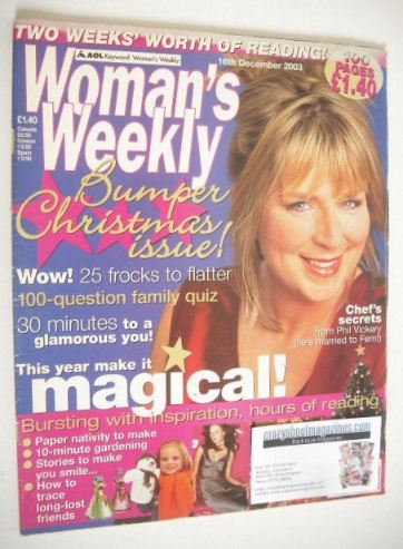 <!--2003-12-16-->Woman's Weekly magazine (16 December 2003 - Fern Britton c