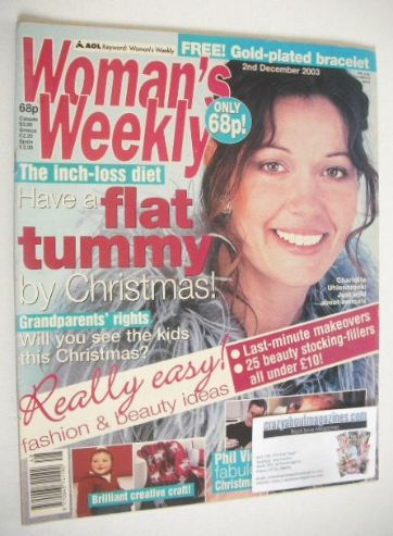 <!--2003-12-02-->Woman's Weekly magazine (2 December 2003 - Charlotte Uhlen