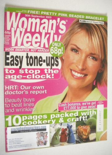 <!--2003-09-30-->Woman's Weekly magazine (30 September 2003)