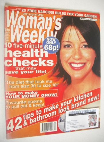 <!--2003-08-26-->Woman's Weekly magazine (26 August 2003)