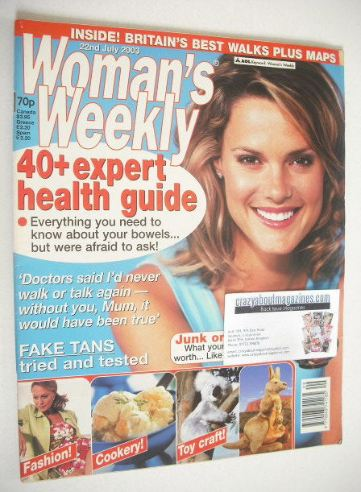 <!--2003-07-22-->Woman's Weekly magazine (22 July 2003)