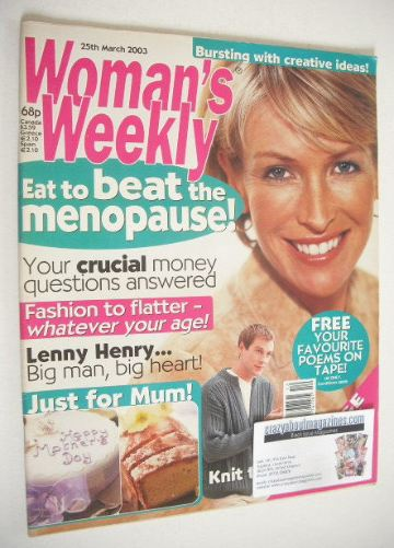<!--2003-03-25-->Woman's Weekly magazine (25 March 2003)