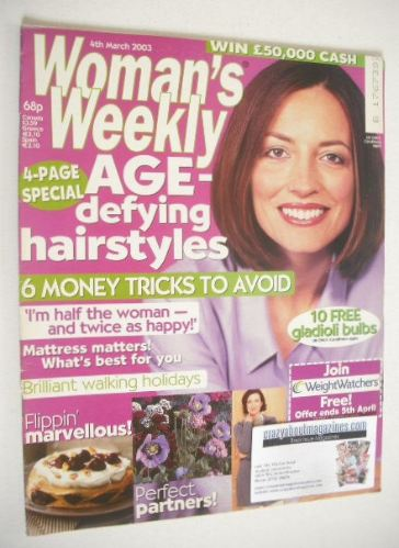 <!--2003-03-04-->Woman's Weekly magazine (4 March 2003)