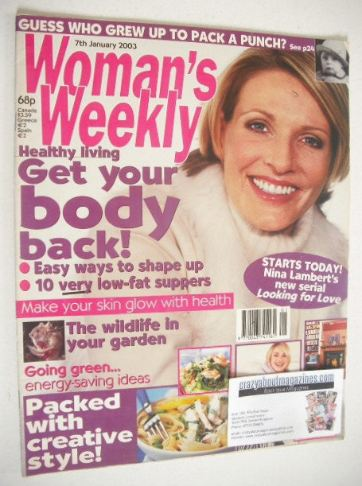 <!--2003-01-07-->Woman's Weekly magazine (7 January 2003)