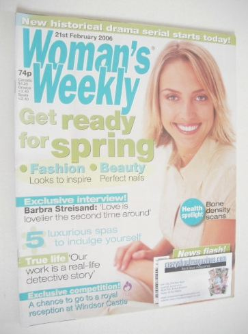<!--2006-02-21-->Woman's Weekly magazine (21 February 2006 - British Editio