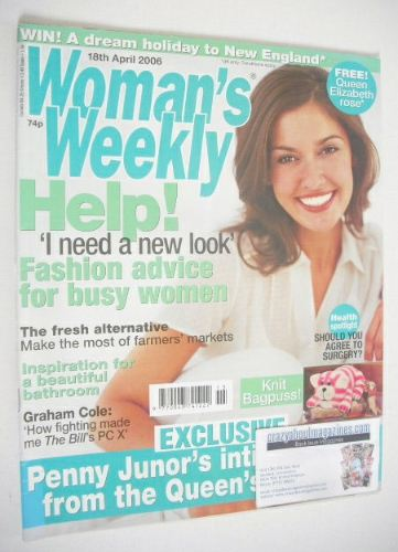 <!--2006-04-18-->Woman's Weekly magazine (18 April 2006 - British Edition)