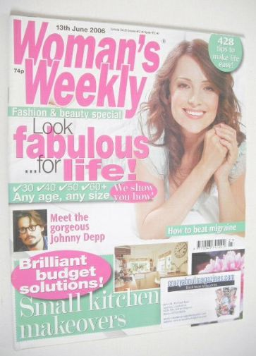 <!--2006-06-13-->Woman's Weekly magazine (13 June 2006 - British Edition)