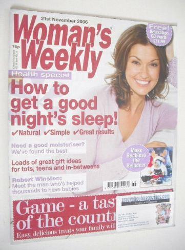 <!--2006-11-21-->Woman's Weekly magazine (21 November 2006 - British Editio