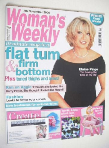 <!--2006-11-07-->Woman's Weekly magazine (7 November 2006 - Elaine Paige co
