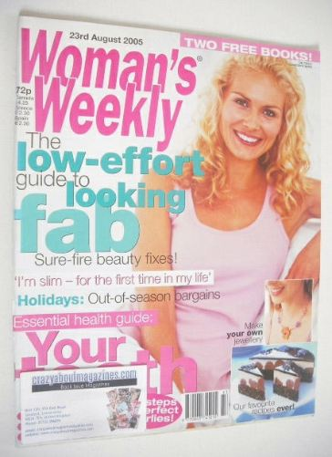 <!--2005-08-23-->Woman's Weekly magazine (23 August 2005)