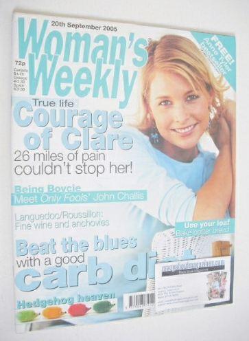 <!--2005-09-20-->Woman's Weekly magazine (20 September 2005 - British Editi