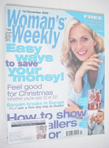 <!--2005-11-01-->Woman's Weekly magazine (1 November 2005 - British Edition