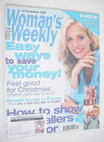<!--2005-11-01-->Woman's Weekly magazine (1 November 2005 - British Edition