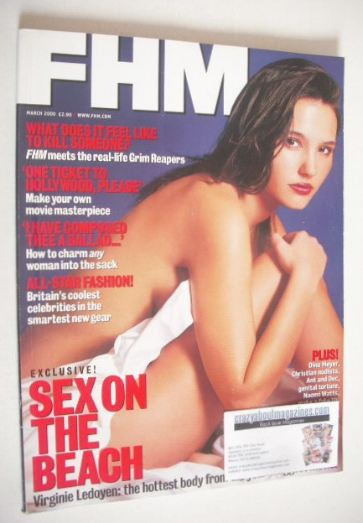 <!--2000-03-->FHM magazine - Virginie Ledoyen cover (March 2000)