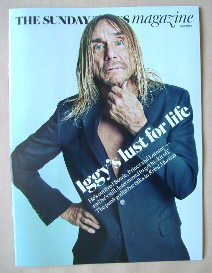 <!--2016-05-08-->The Sunday Times magazine - Iggy Pop cover (8 May 2016)