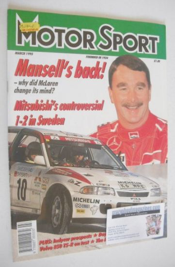 <!--1995-03-->Motorsport Magazine - March 1995 - Nigel Mansell cover