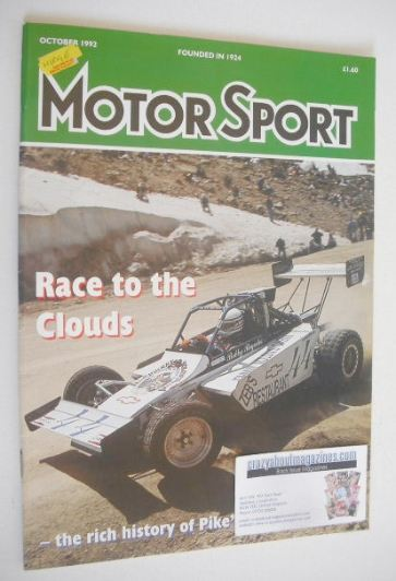 <!--1992-10-->Motorsport Magazine - October 1992