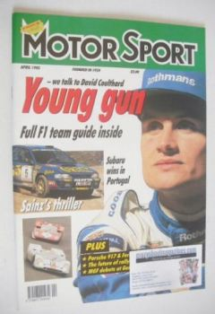 Motorsport Magazine - April 1995 - David Coulthard cover