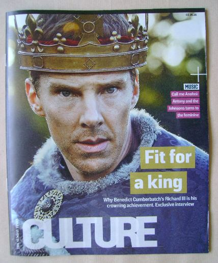 <!--2016-05-08-->Culture magazine - Benedict Cumberbatch cover (8 May 2016)