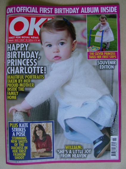 <!--2016-05-10-->OK! magazine - Princess Charlotte cover (10 May 2016 - Iss