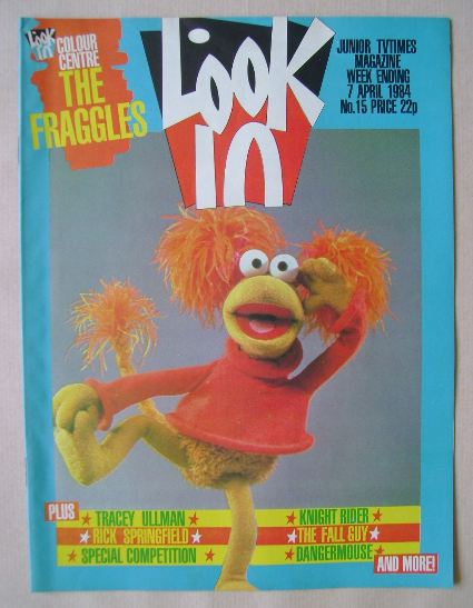 <!--1984-04-07-->Look In magazine - The Fraggles cover (7 April 1984)