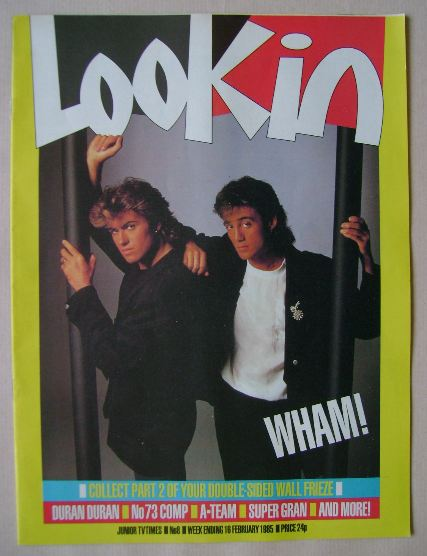 <!--1985-02-16-->Look In magazine - George Michael and Andrew Ridgeley cove