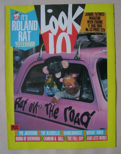 <!--1984-08-11-->Look In magazine - Roland Rat cover (11 August 1984)