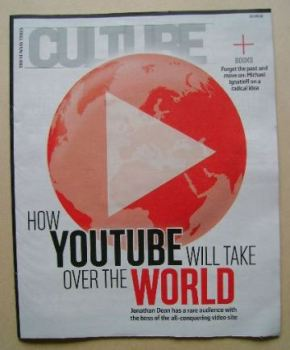 Culture magazine - How YouTube Will Take Over the World cover (10 April 2016)