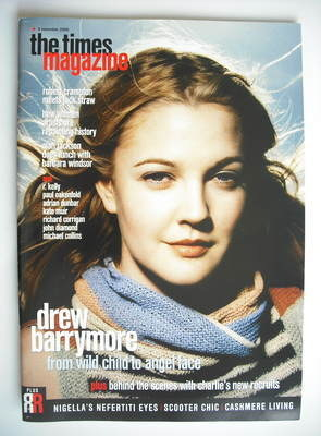 <!--2000-11-04-->The Times magazine - Drew Barrymore cover (4 November 2000